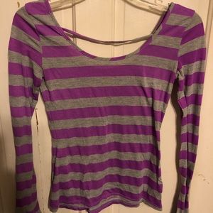 Purple and grey shirt